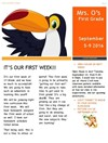 1st Grade Newsletter - Week 1, PAGE 1
